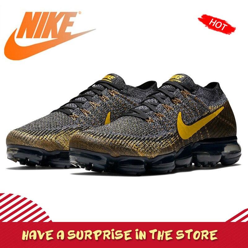 Original authentique Nike Air VaporMax Flyknit hommes chaussures de course en plein Air baskets classique respirant chaussures de sport nouveau 849558-009