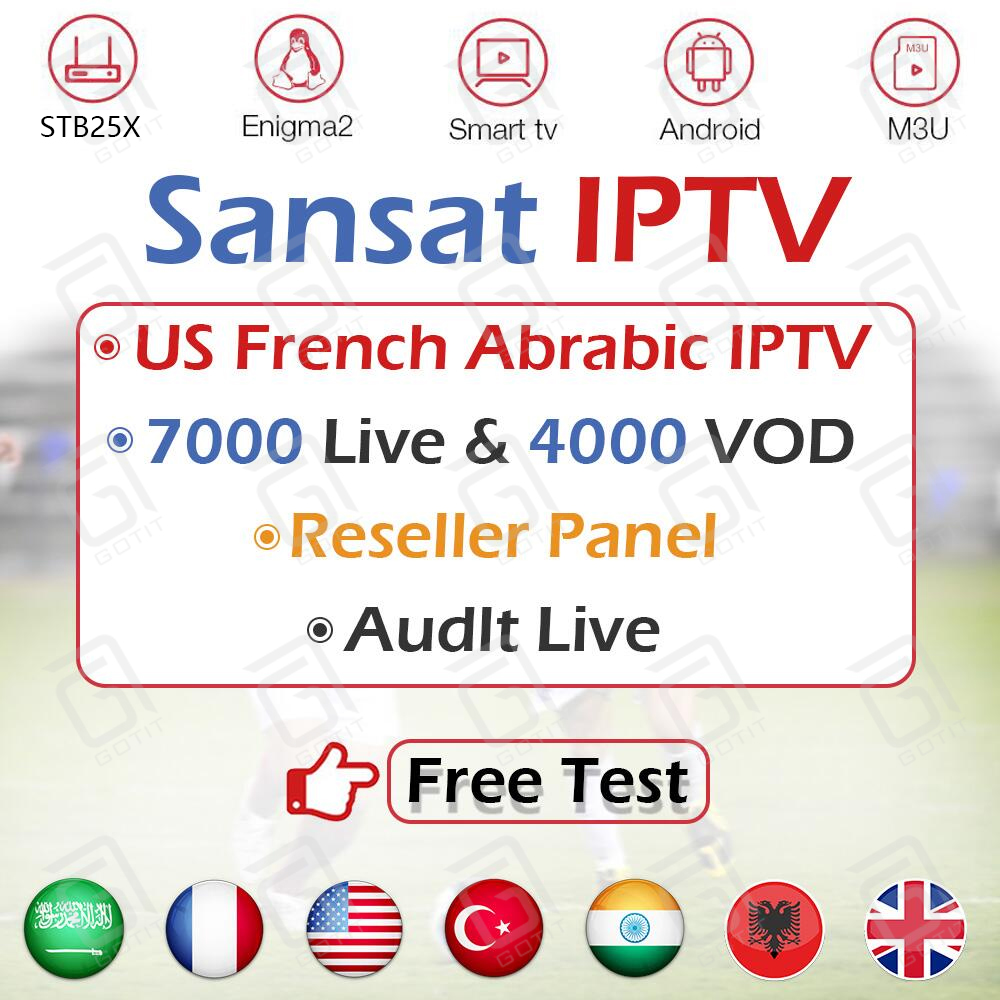Best America IPTV Subscription Francais Arabic Europe XXX Adult IPTV Support M3u Enigma2 Smart TV IOS Android TV Box Sansat IPTV