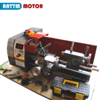 WM180V 600W Mini Lathe Machine Metalworking Digital Control Variable Speed Benchtop Milling 32mm Spindle Hole