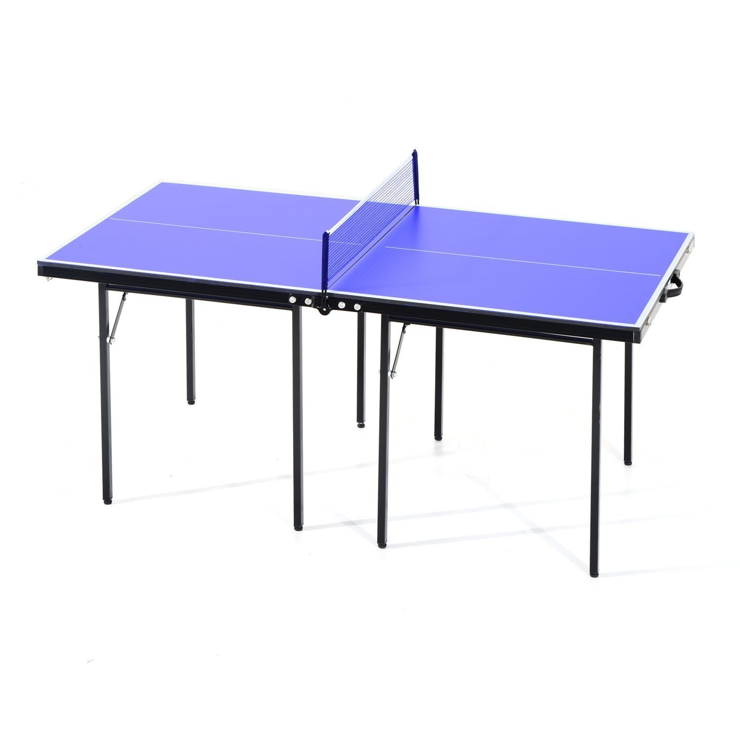 HOMCOM Ping Pong Table Folding Wood MDF 153x76.5x67 Cm Blue And Black