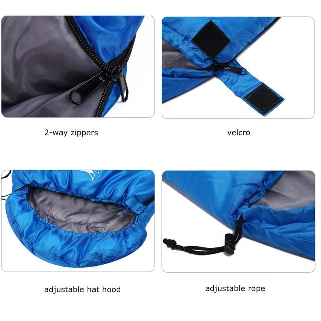 Desert&Fox Ultralight Sleeping bags for Adult Kids 1KG Portable 3 Season Hiking Camping Backpacking Sleeping Bag with Sack 5