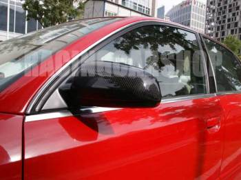 REAL CARBON FIBER MIRROR COVERS 1pair For AUDI A3 8P 8PA A4 B6 B7 A6  A071M 1