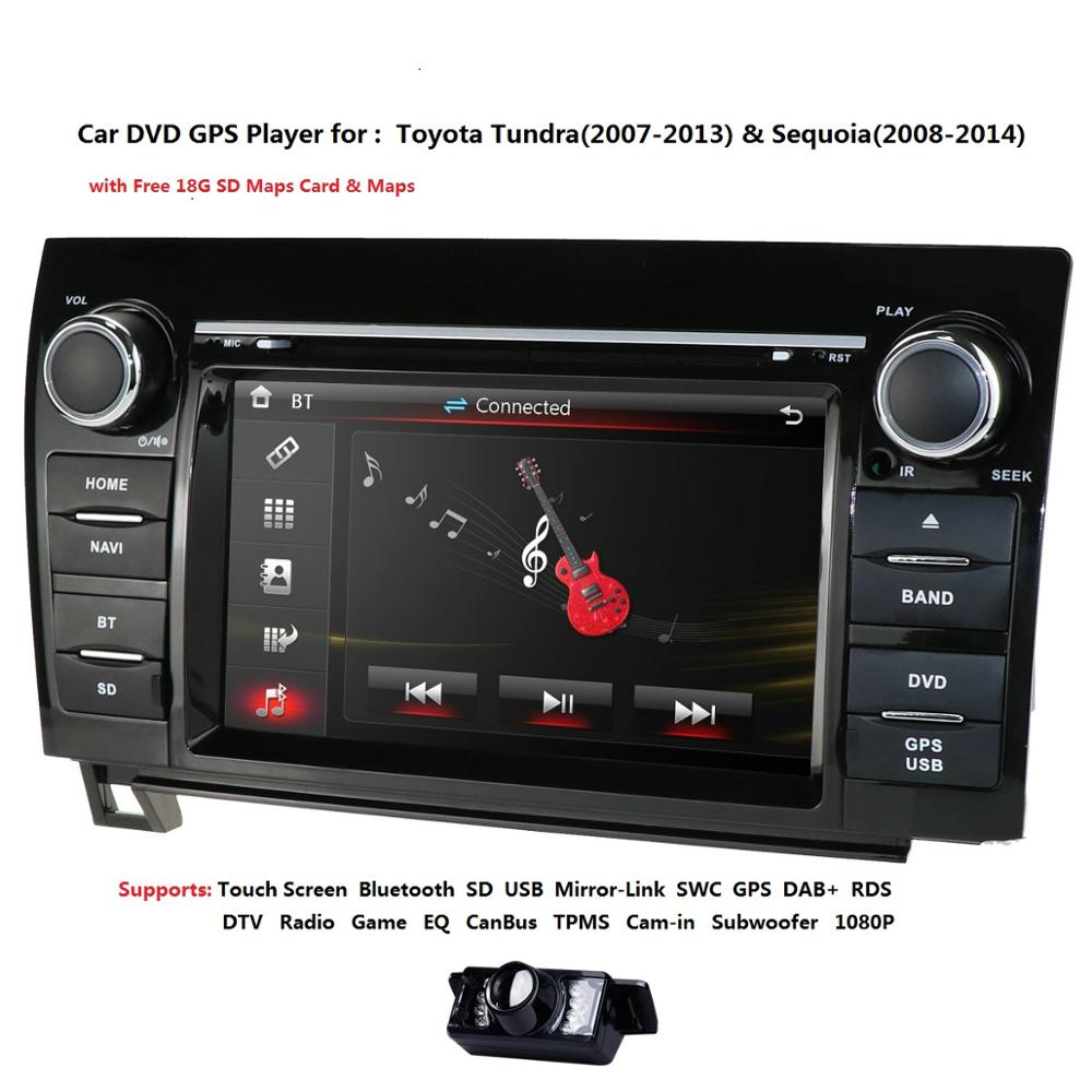 Dvd-Player Sequoia Toyota Tundra 2007 2009 2-Din 2008 for RDS SWC DAB SWC