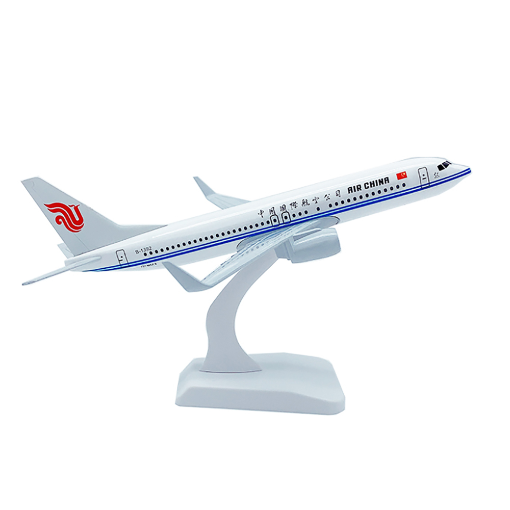 20cm Aircraft Boeing 737 Air China Alloy Plane B737 with Wheel Model Toys Children Kids Gift for Collection image