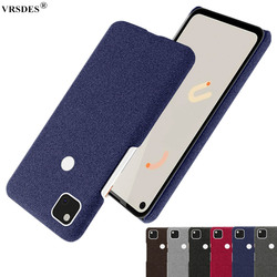 Case For Goolgle Pixel 4a 4 XL 3a 3 XL Fabric+PC Febric Antiskid Case Cloth Texture Fit Cover Coque For Pixel 4 3 3A XL 4A Funda