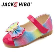 JACKSHIBO 2020 New Spring Children Princess Shoes Girls Sequins Girls Wedding Pa