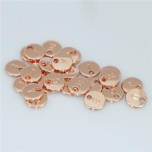 Image 3 - 130 Uds colgante de disco de oro redondo de doble cara alfabeto A Z dijes de etiqueta de letra sello joyería inicial, cuentas de 10mm para fabricación de joyas