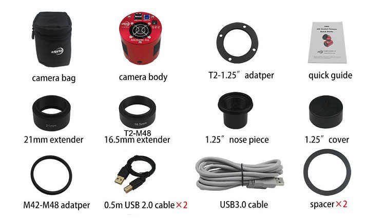 Камера видеонаблюдения ZWO ASI294MC Pro цветная «Холодное сердце», 4/3 дюйма, USB3.0, с концентратором, для глубокого космоса, фото ASI294 MC Pro ASI 294MC Pro ASI294MC