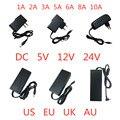 5V 12V 24 V 1A 2A 3A 5A 6A 8A 10A источник питания AC DC адаптер зарядное устройство Трансформатор привод 5 12 24 V вольт для света светодиодные полосы лампы