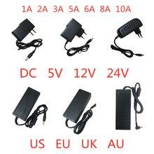 Transformateur de chargeur pour lampe, alimentation électrique, 5V 12V 24 V 1A 2A 3A 5A 6A 8A 10A