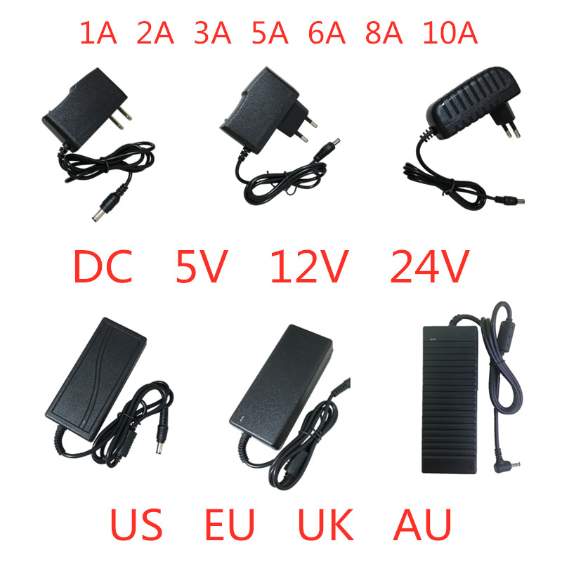 5V 12V <font><b>24V</b></font> 1A 2A 3A <font><b>5A</b></font> 6A 8A 10A Power Supply <font><b>AC</b></font> DC Adapter Charger transformer drive 5 12 24 V Volt For Light Led Strip Lamp image
