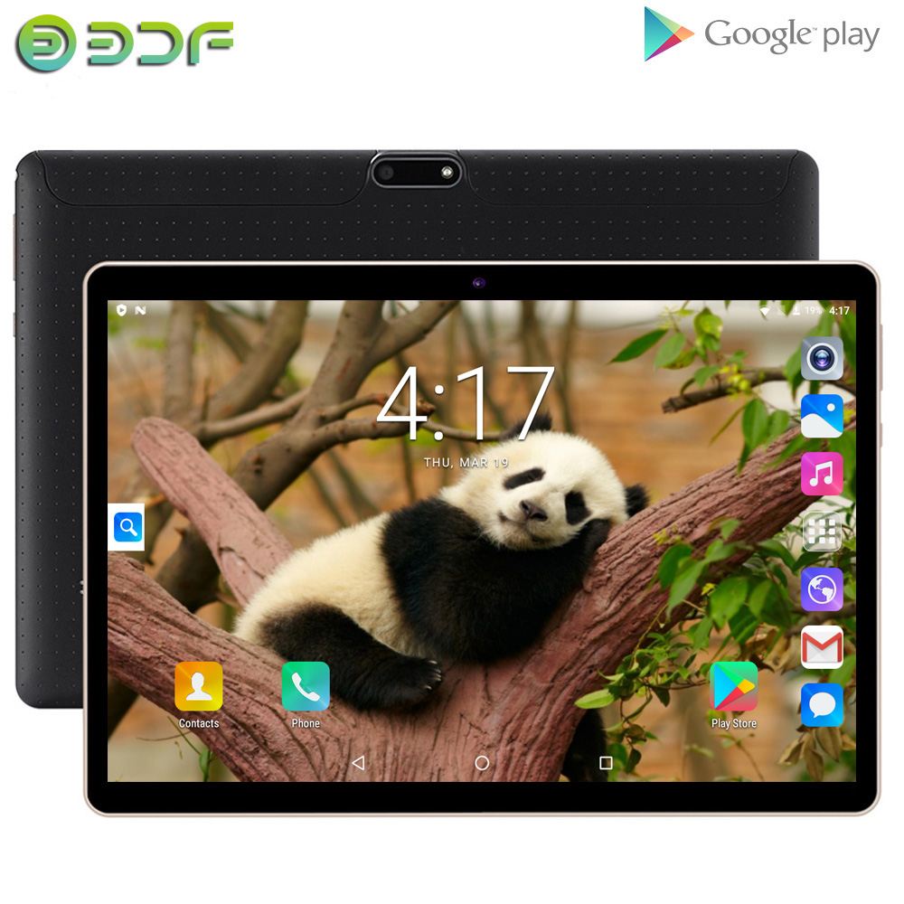 BDF NEW Original 10 Inch Tablet Dual SIM Card 2GB RAM 32GB ROM 10 Inch PC Android 6.0 Quad Core Tablets 10.1 IPS GPS Tab IPS FM