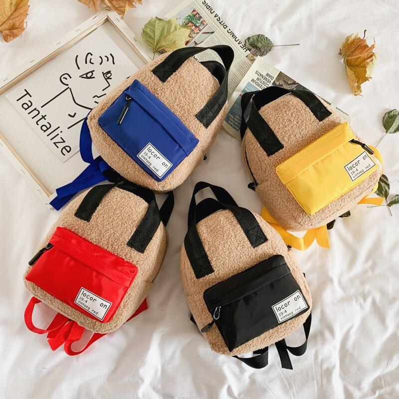 2019 New Style Children Backpack Plush Fashion Backpack Trend Versatile Korean-style CHILDREN'S Rucksack