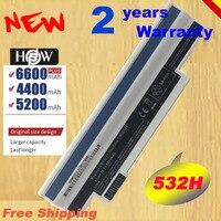 A HSW Bateria de Alta capacidade para Acer Aspire one 253H 532h 532G AO532h Para eMachines 350 eM350 NAV51 NAV50 UM09H31 transporte rápido|Baterias p/ laptop| |  -