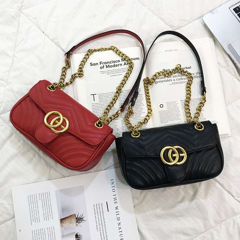 2020 New Saddle bag Women's Style Korean style Versitile Fashion Shoulder Textured Bags INS Stylish Chain Shoulder Bag Top-Handle Bags  - AliExpress