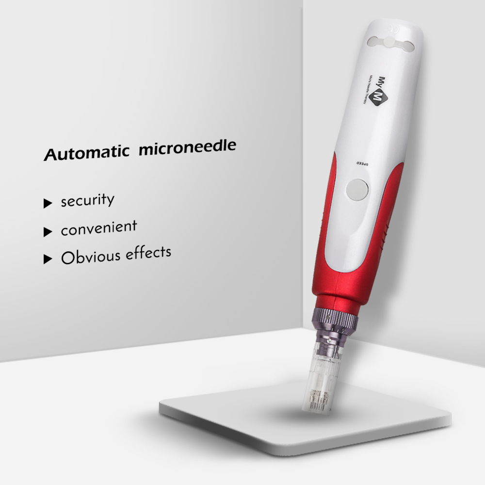 Bayonet Dr Pen Electric Micro Needling Pen Whitening Wrinkle Remove Dr.pen With 2pcs 12 Pin Cartridge Needle Tips