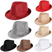 Новая мужская Гангстерская шляпа унисекс, Пляжная соломенная шляпа от солнца