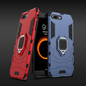 For Xiaomi Mi 8 lite Case Armor PC Cover TPU Rim Finger Ring Holder Phone Case on For Mi 8 Mi8 Lite Cover Full Protection Bumper