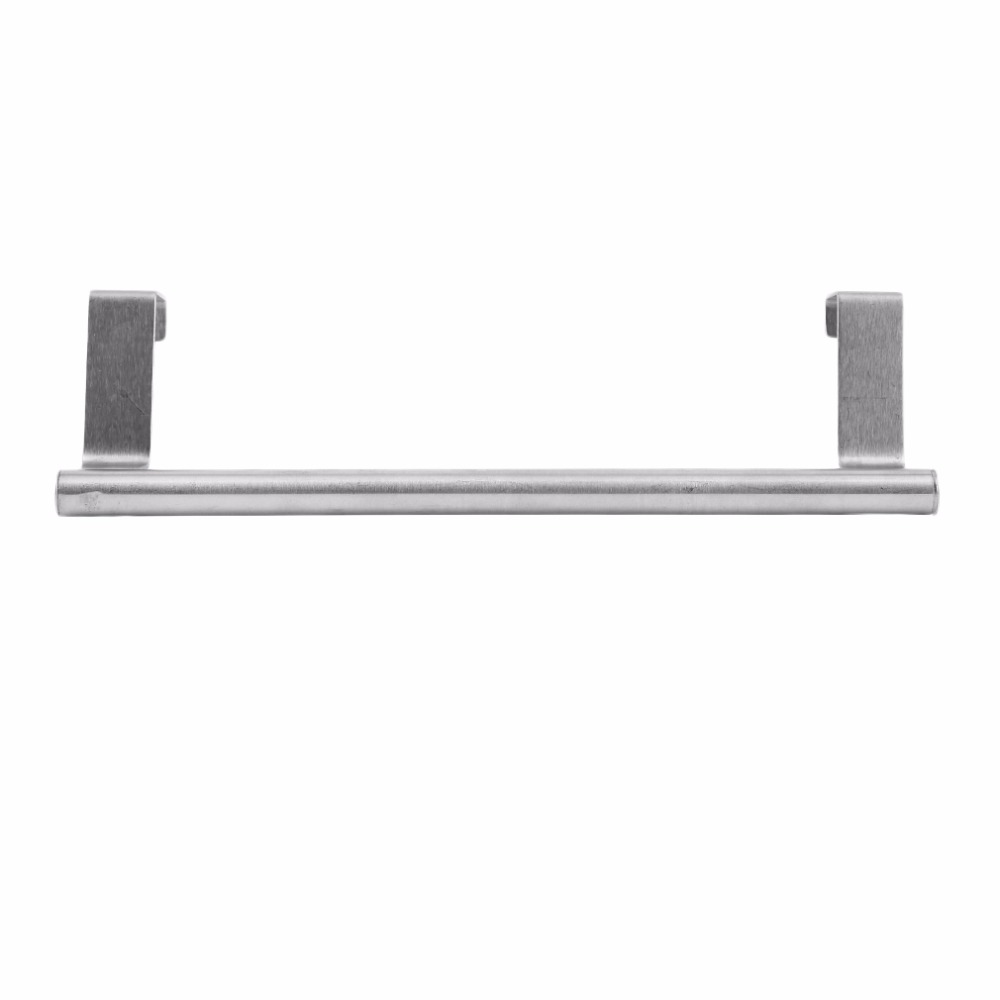 Stainless Steel Towel Rack Hanger Bathroom Towel Clothing Door Over Holder Drawer Hook Storage Scarf Hanger Cabinet Hanging