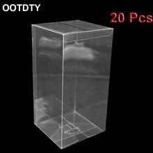 Boîte d'exposition transparente en PVC, support d'exposition anti-poussière, modèle de voiture 1:64, 20 pièces