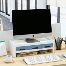 Wielofunkcyjna stackowalna podstawa monitora Organizer na biurko regał magazynowy uchwyt na przybory biurowe ekran komputera Riser akcesoria biurowe
