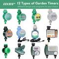 Садовый таймер воды RBCFHI, 12 типов, Соленоидный клапан, контроллер, автоматический ЖК-дисплей, датчик дождя на солнечной энергии, Wi-Fi, длительн...