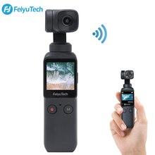 Feiyu bolso 3 axis bolso cardan câmera estabilizador 4k hd 120 ° grande angular built in wi fi controle acoplável ao smartphone