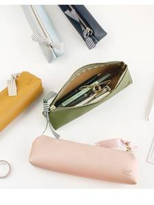 Pouch Stationery Pencil-Bag Pens Storage-Organizer Youth-Pen-Case Leather-Material School-A6786
