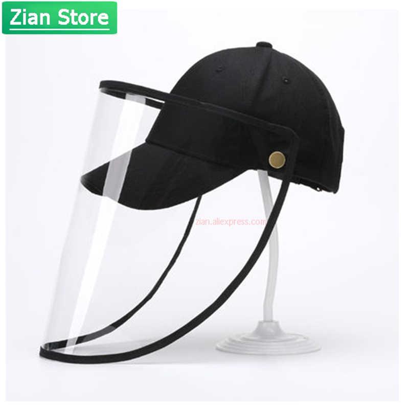 Защитная крышка с экраном для лица, бейсбольная Защитная шляпа со съемным распылителем, изоляционная спортивная версия