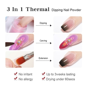 Image 5 - BORN PRETTY 3 IN 1 Thermal Polymer Dipping Nail Powder 10ml Color Changing Acrylic Extension Carving Nails Powder Glitter
