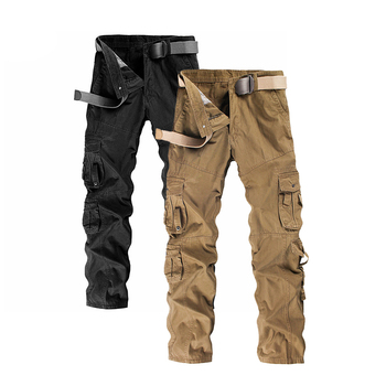 Work Pants Men's Military Tactics Pockets Trousers With Belt Work Clothes Trousers Cotton Safety Clothing Pants Work Wear