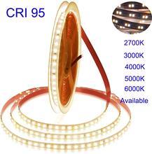 2020 חדש 5m 5 שנים אחריות לבן גבוהה CRI 95 LED רצועת אור DC 12V  2835 LED חם לבן טבע לבן