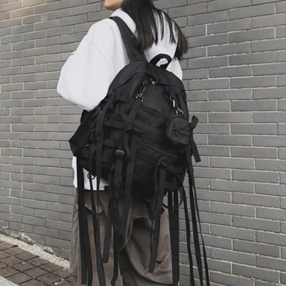 Rosetic 2020 Gothic Black Backpacks Travel Bag Harajuku Casual Shoulder Backpack Punk Goth Fashion Unisex Couple School Bags