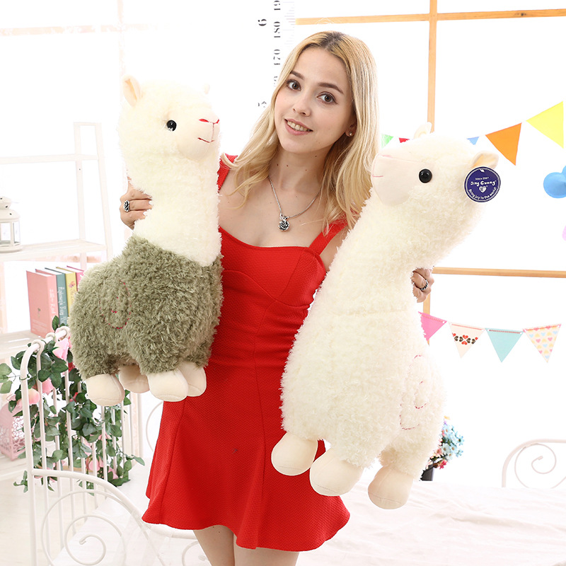 Kawaii Rainbow 25cm Alpaca Plush Doll Toys Cute Lama Alpacasso Toys Plush Japanese Alpaca Animal Stuffed Doll Children Kids Gift