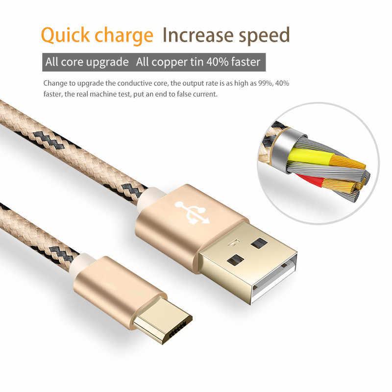 Iyi 1M/2M mikro USB kablosu hızlı şarj kablosu mikro USB 3A Samsung Huawei Xiaomi Redmi LG telefon şarj kablosu mikro usb kablosu