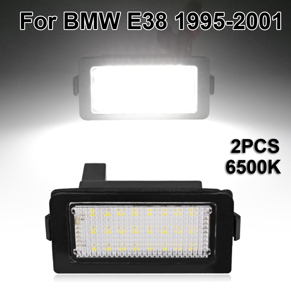 License Plate LED Lights Lamps Bulbs For BMW E38 1995-2001 6500K White
