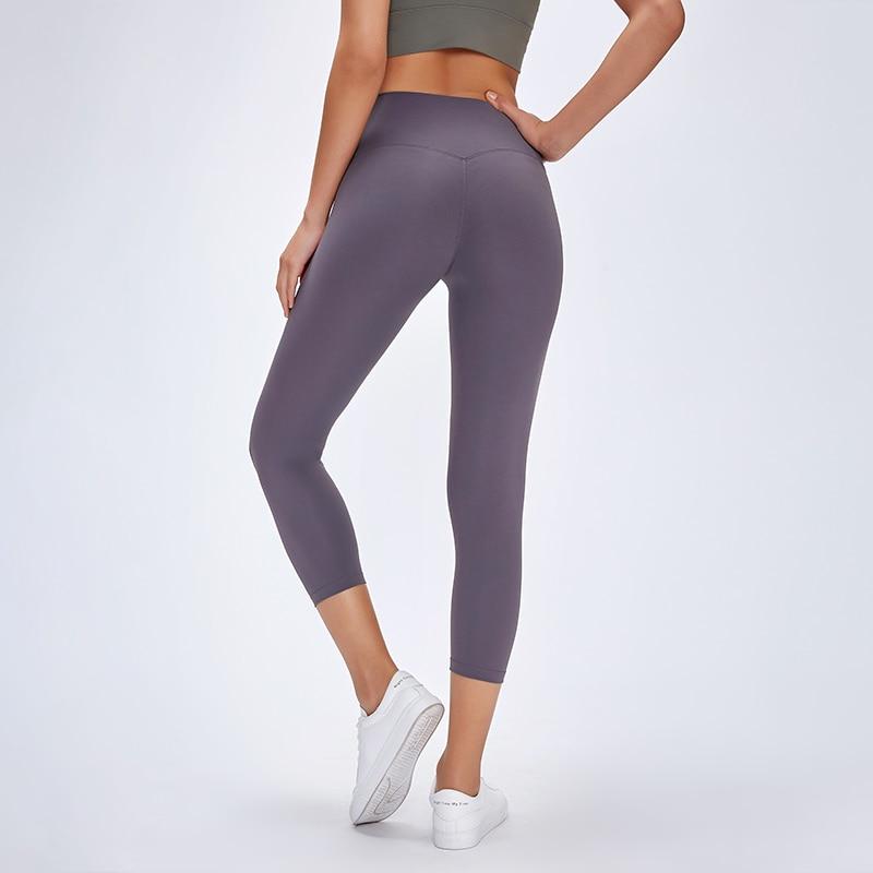 Image 4 - SHINBENE Classical 3.0Version NO CAMEL TOE Sport Fitness Capri Pants Women Naked feel Squatproof Camo Gym Yoga Cropped TightsYoga Pants   -