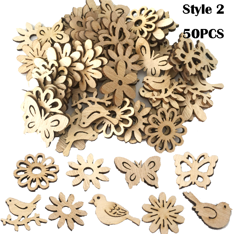 Image 5 - 50/100PCS New Year Natural Wood Christmas Decoration For Home Wooden Christmas Tree Ornament Hanging Pendants Gifts Elk Decora-in Pendant & Drop Ornaments from Home & Garden