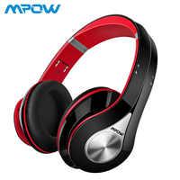 Mpow melhor 059 fones de ouvido sem fio bluetooth 4.0 microfone embutido macio earmuffs cancelamento ruído fone de ouvido estéreo para telefones