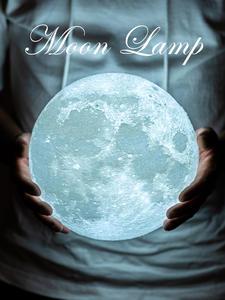 Moon-Lamp Led-Night-Light 3d-Print Creative Gift Home-Decor Colorful Dropship New Usb