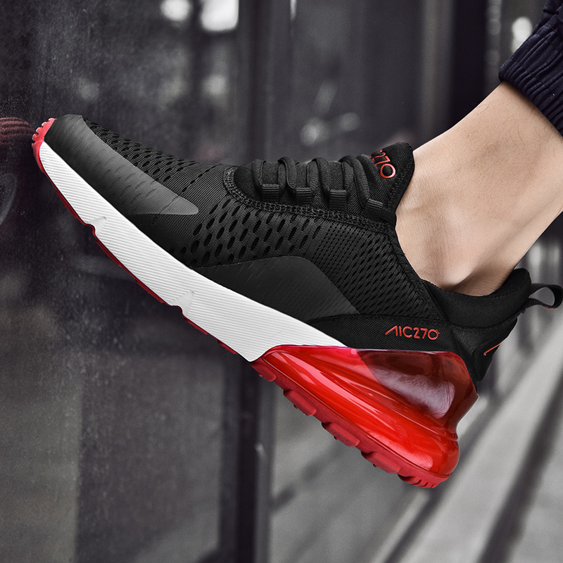 Summer New Men Sneakers Air Cushion Lightweight Breathable Sneakers Fashion Shoes Woman Couple Sport Shoes Mens
