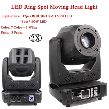 200W LED Spot Moving Head Light With LED Ring Stage Effect Lights super Bright LED DJ Disco Bar Party Spot Lights Equipment