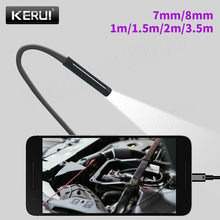 KERUI Mini Endoscope Camera 8mm/7mm Hard Cable USB Camera for Android Endoscope Inspection Camera Borescope Waterproof