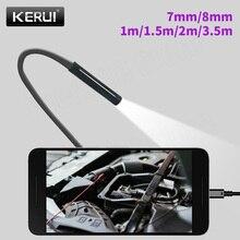 KERUI Mini Endoscope Camera 8mm/7mm Hard Cable USB Camera for Android Endoscope Inspection Camera Borescope Waterproof