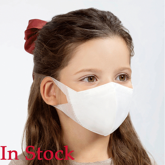 50pcs Child Disposable Face Masks PM2.5 filter Kid Mouth Mask Children Flu Protect Respirator 3 Layers Filter Mouth Cover