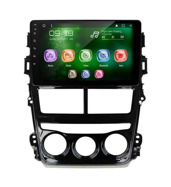 "Allways 9 ""pantalla IPS Android 9,0 Octa-core 2GB Ram Rom Multimedia para coche 32GB Toyota Vios (RHD) 2018 Manual aire acondicionado"