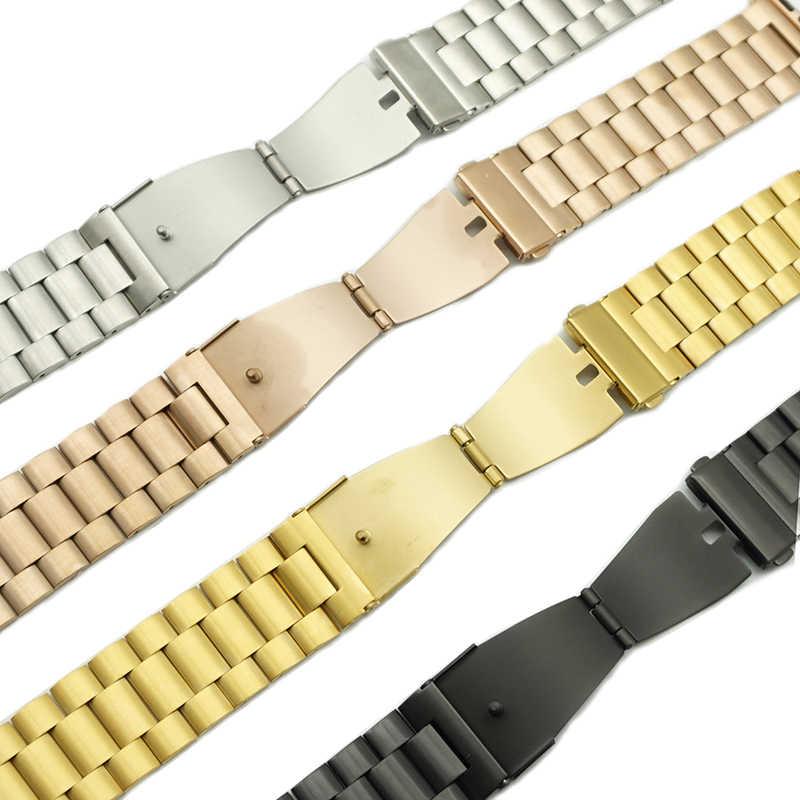 Pasek na drewno do zegarka Apple 44/40/38/42mm pasek moda metalowa bransoletka sportowa zegarek ze stali nierdzewnej do serii iWatch 5 4 3 2 1