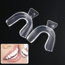 2 sztuk termoformowania ochraniacz na zęby nakładki wybielające zęby wybielacz do zębów ochraniacz na zęby opieki higiena jamy ustnej pielęgnacja jamy ustnej TSLM1 tanie tanio CN (pochodzenie) Mouth Guard Umiarkowane