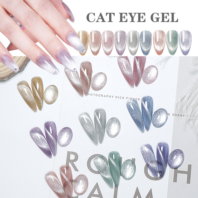 Limegirl 9D кошачий глаз УФ-гель отмачиваемый Магнитный лазерный Сияющий Красочный лак для ногтей все для гель-лака для ногтей