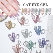Limegirl 9d olho de gato uv gel embeber fora uv led unha polonês ímã laser brilhante colorido verniz da arte do prego tudo para gel unha polonês